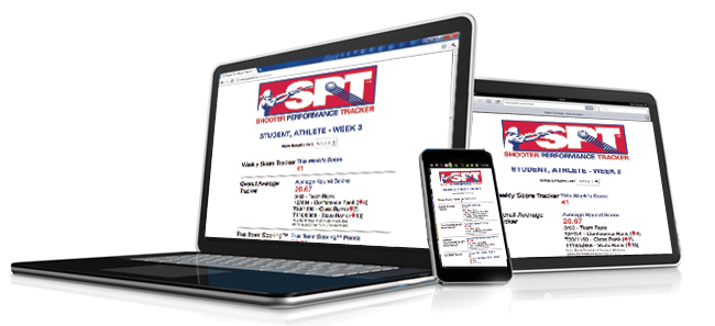 Athletes can view scores and rankings from their Shooter Performance Tracker™on their computer, phone or tablet devices.